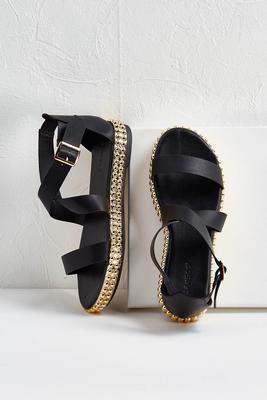 stud embellished sandals
