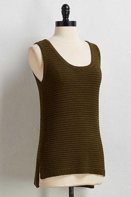 lattice back sweater tank