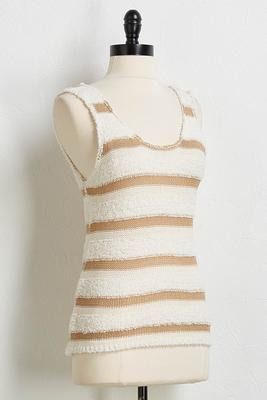 textured stripe sweater tank