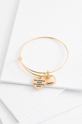 sisters in heart charm bracelet