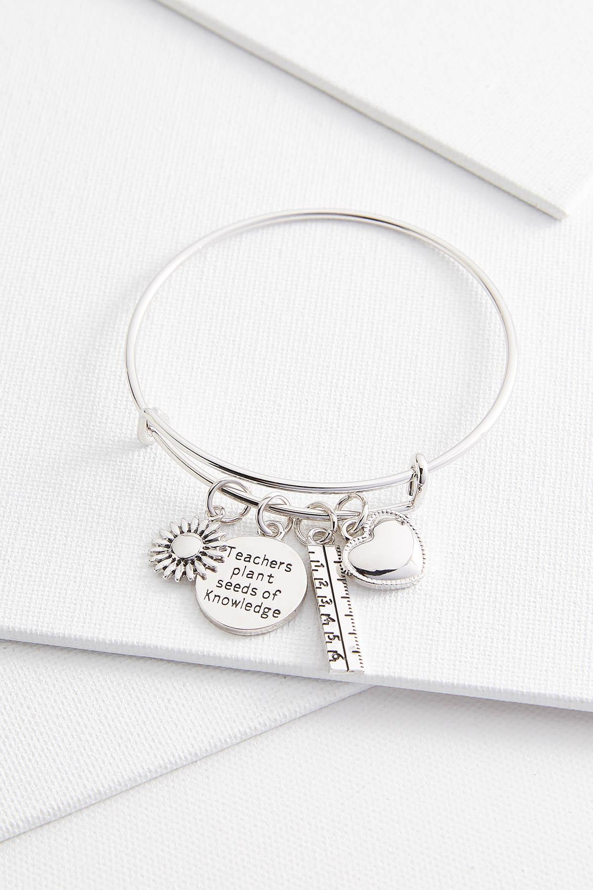 Teacher Charm Bangle Bracelet