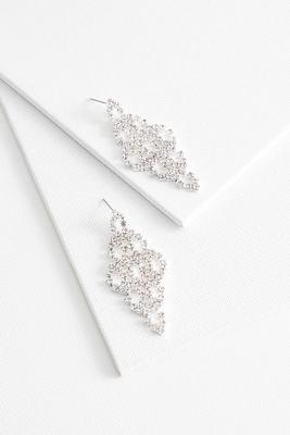 sparkling stone chandelier earrings
