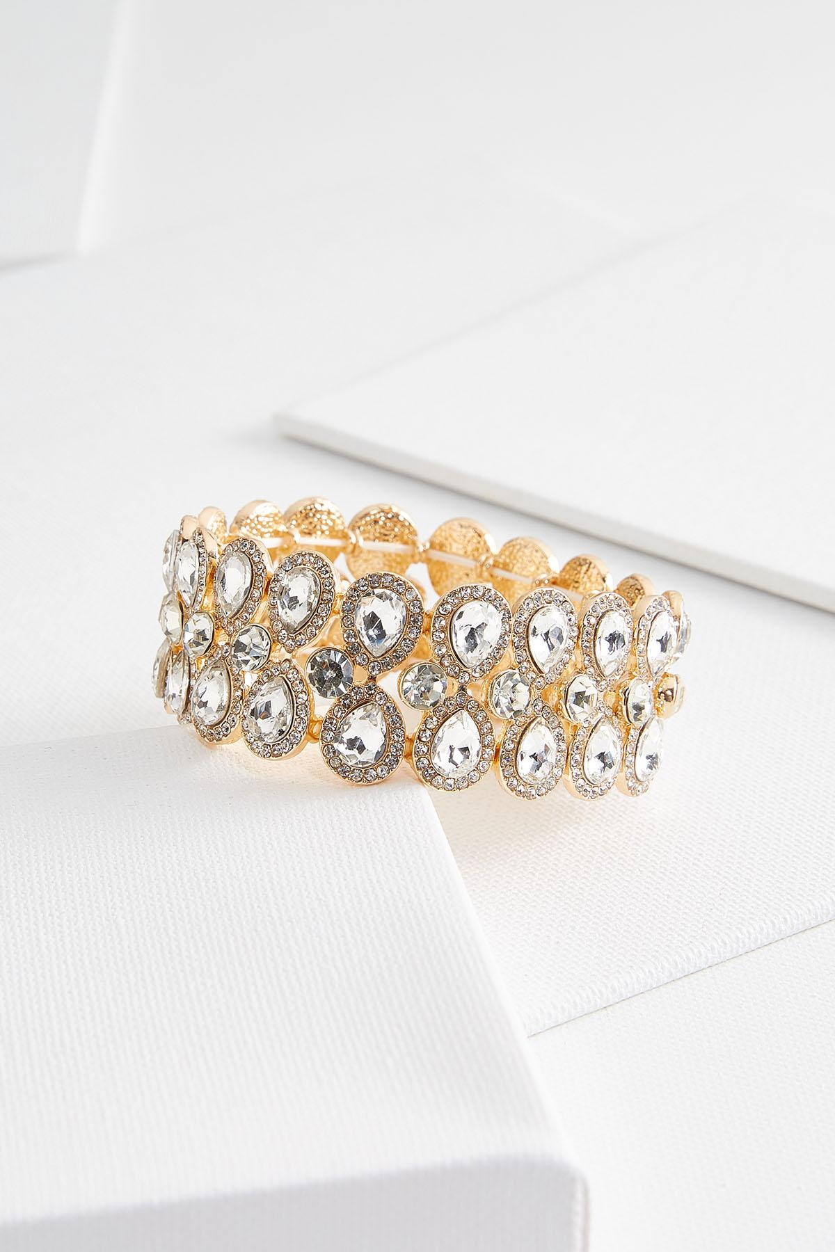 Tear Shape Stone Stretch Bracelet
