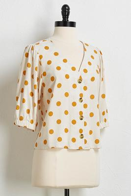 dotted linen top