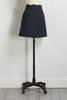 Button Stripe Mini Skirt