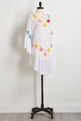 floral crochet cover-up