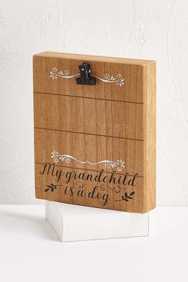 wooden grandchild dog frame