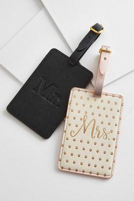 mr. and mrs. luggage tags