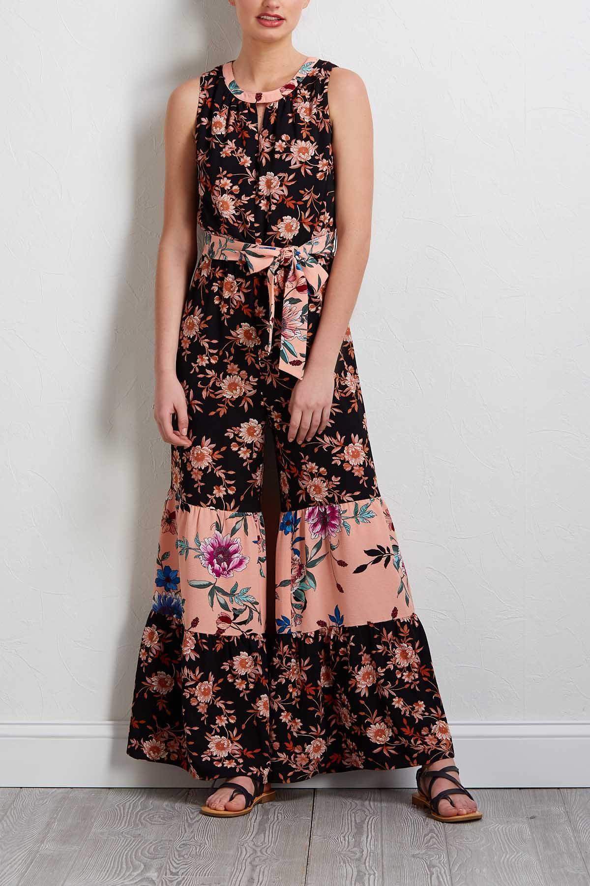 Crepe Blush Floral Jumpsuit