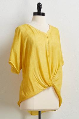 knotted mineral wash top