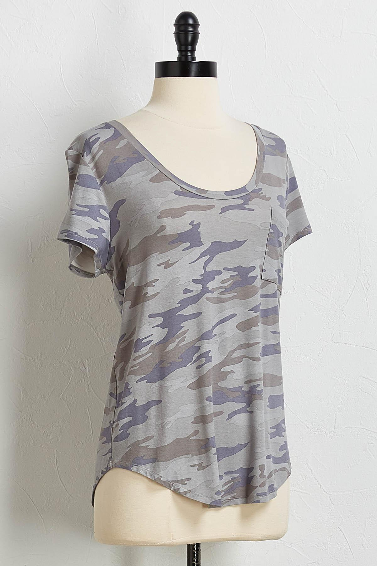 Camo Single Pocket Tee