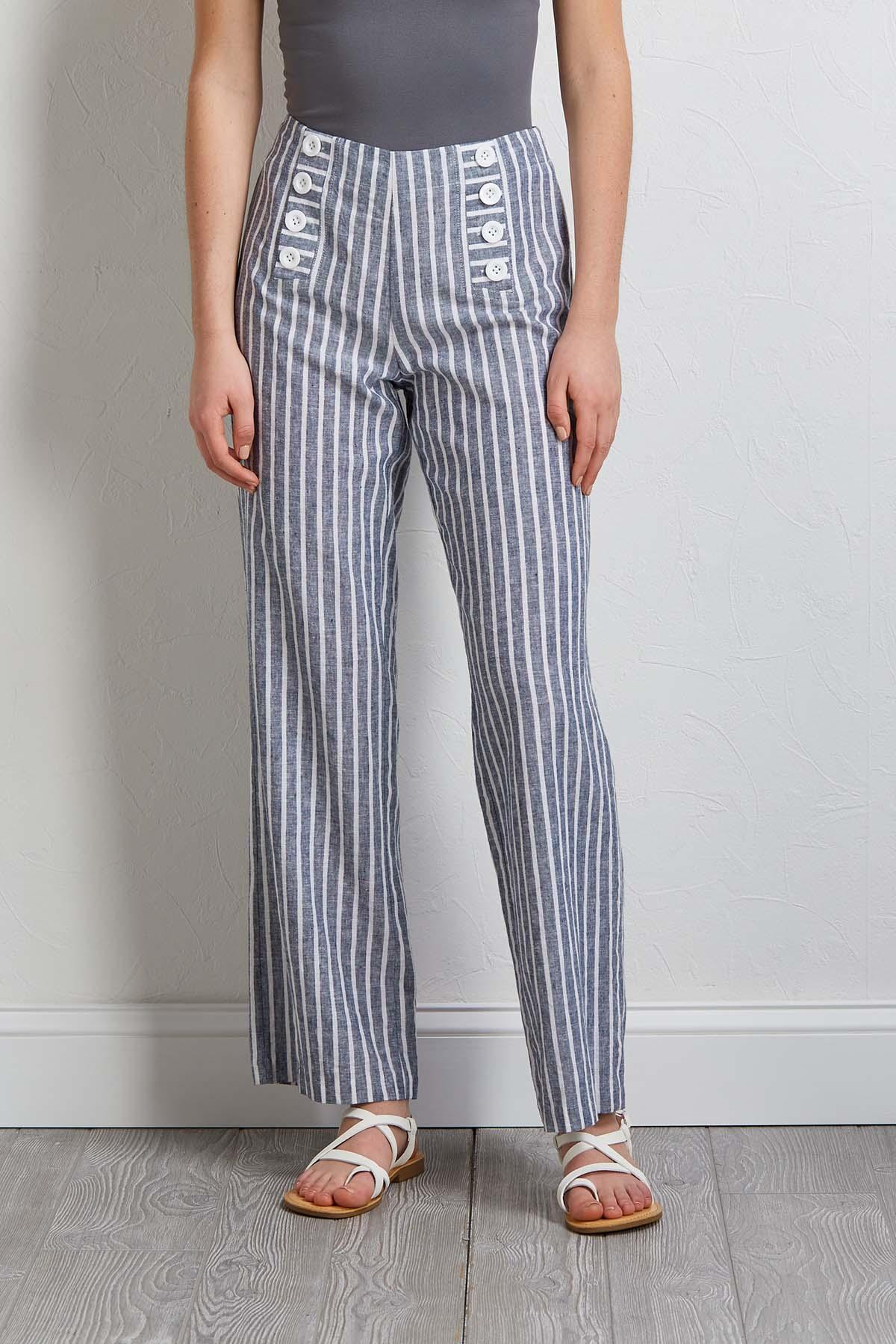 Nautical Linen Pants