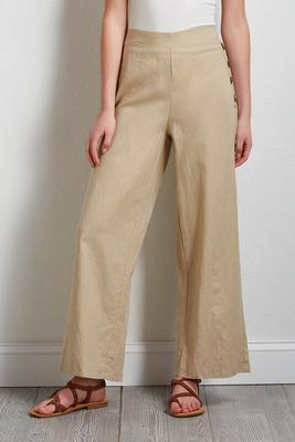 linen side button pants