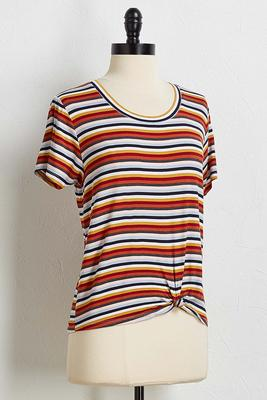 knotted spice stripe tee