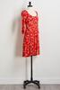 Fiery Floral Print Dress