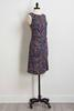 Side Twist Paisley Knit Dress