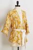 Belted Golden Floral Kimono