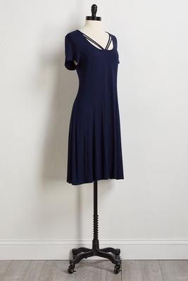navy strappy tee shirt dress