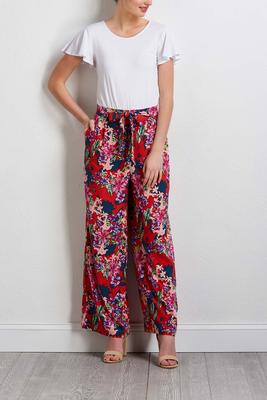solid and floral jumpsuit