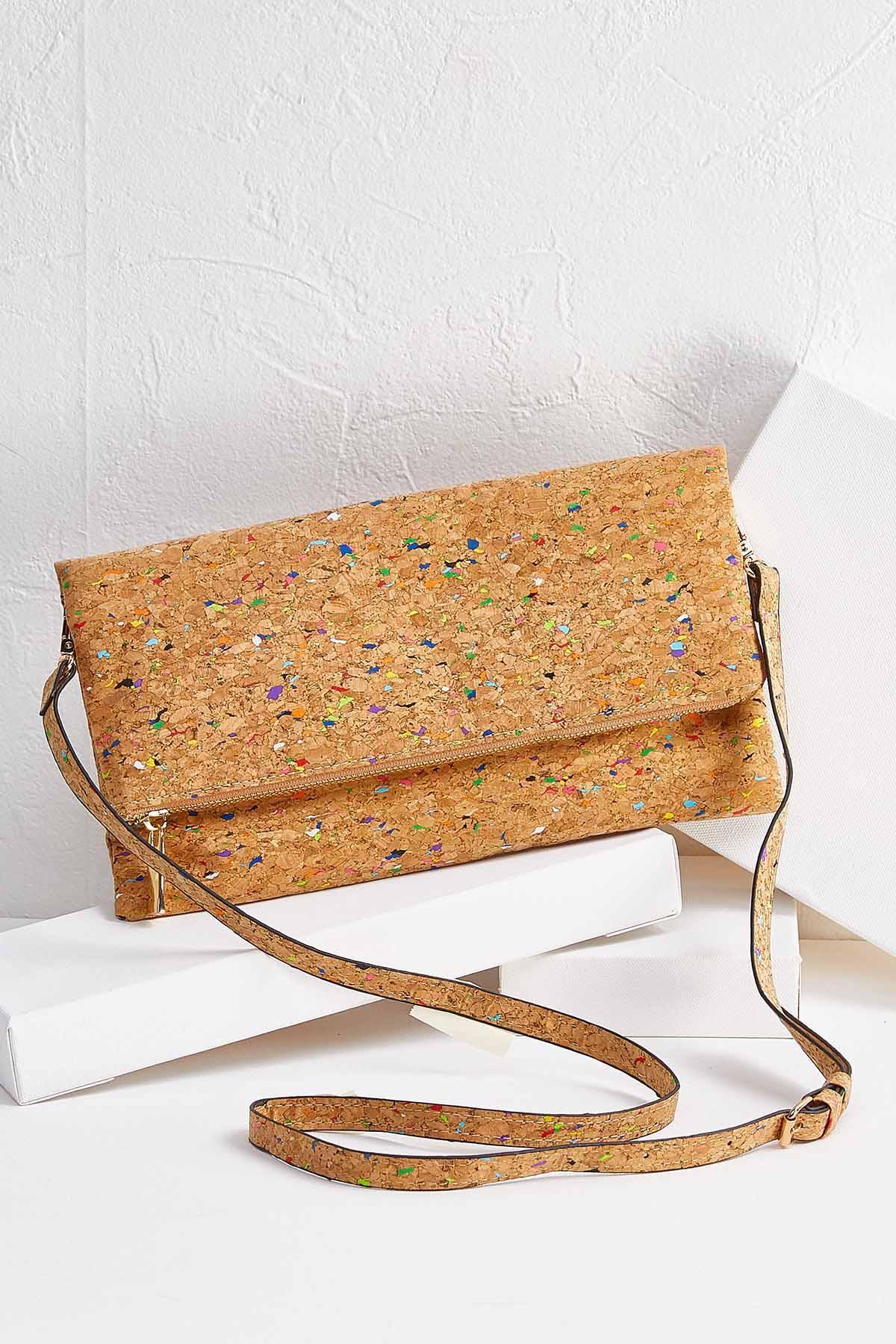Multi Color Cork Crossbody Bag