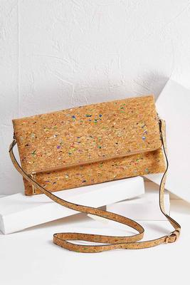multi color cork crossbody bag