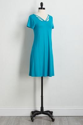 strappy tee shirt dress