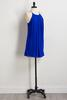 Blue Pebble Crepe Shift Dress