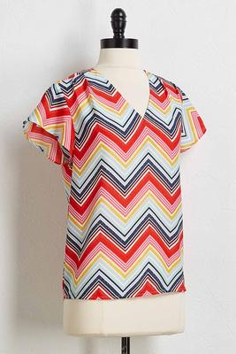 colorful chevron top