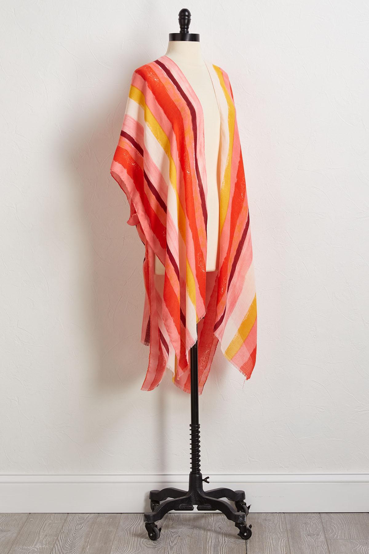 Stripe Sunrise Kimono