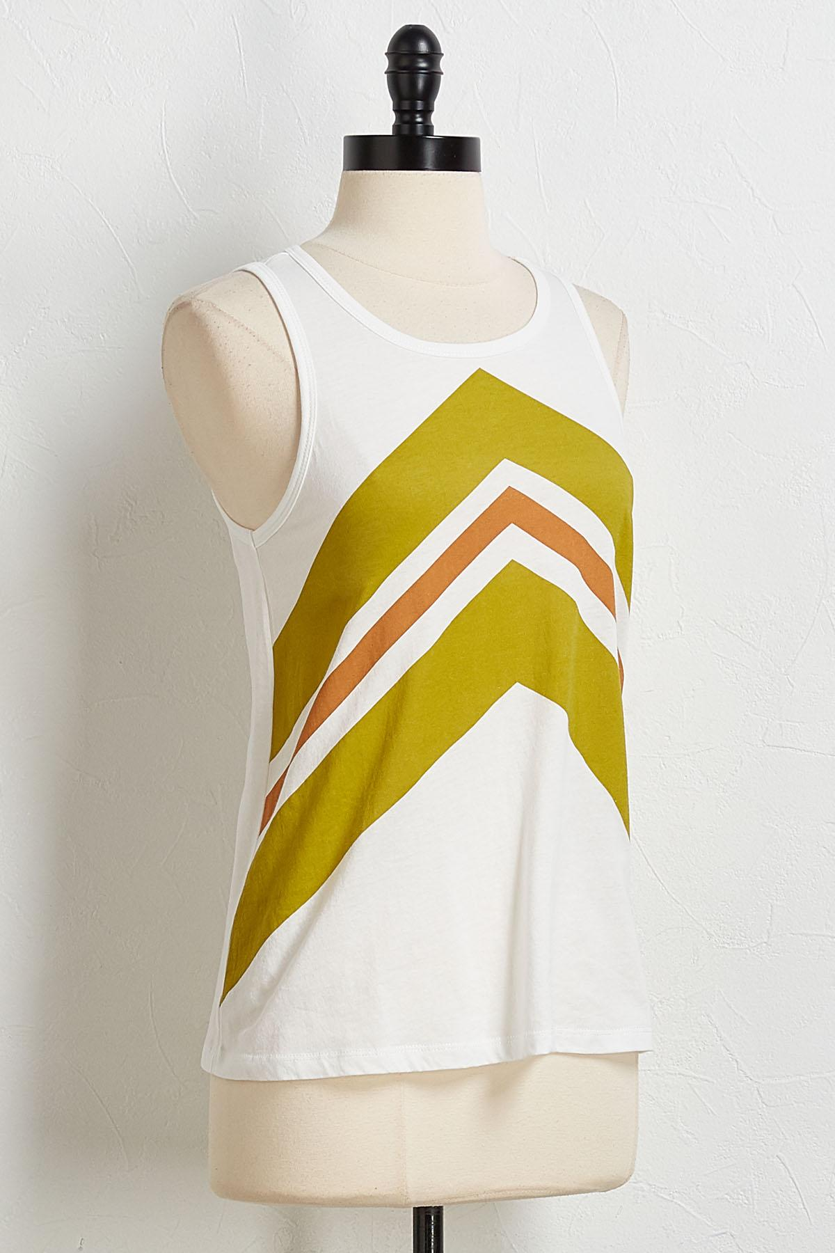 Colorblock Arrow Tank