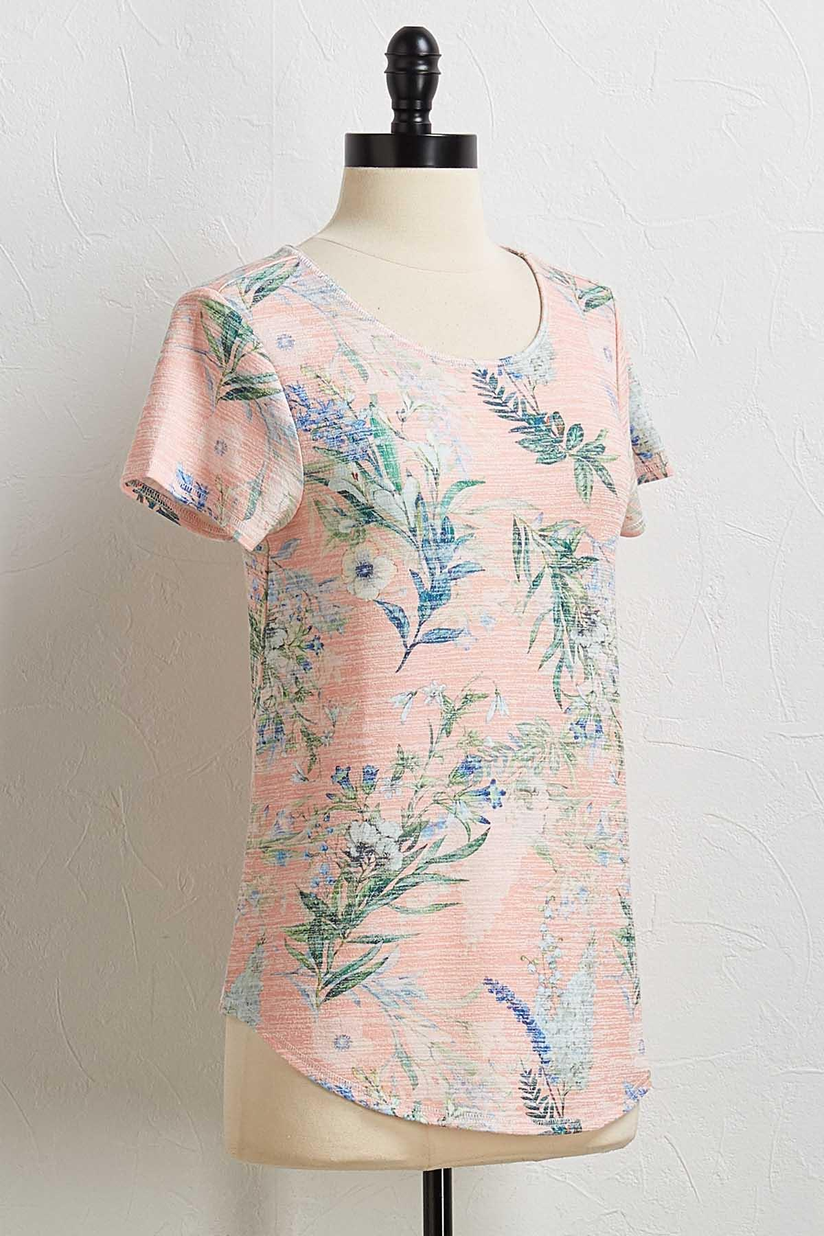 Floral Blossom Hacci Tee