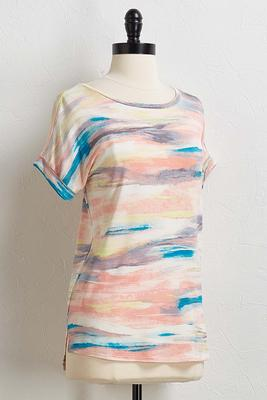 rainbow space dye tee