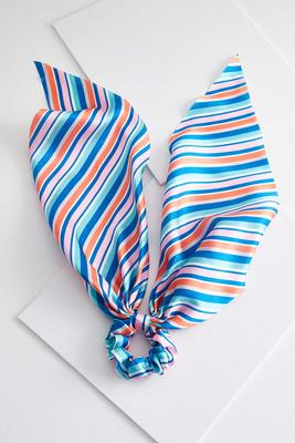 striped scarf scrunchie