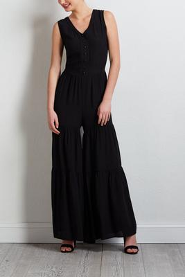 crepe wide leg jumpsuit