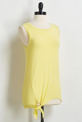 solid side tie tunic