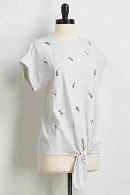 sequin pineapple tee