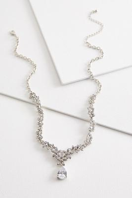 dangling tear shaped necklace