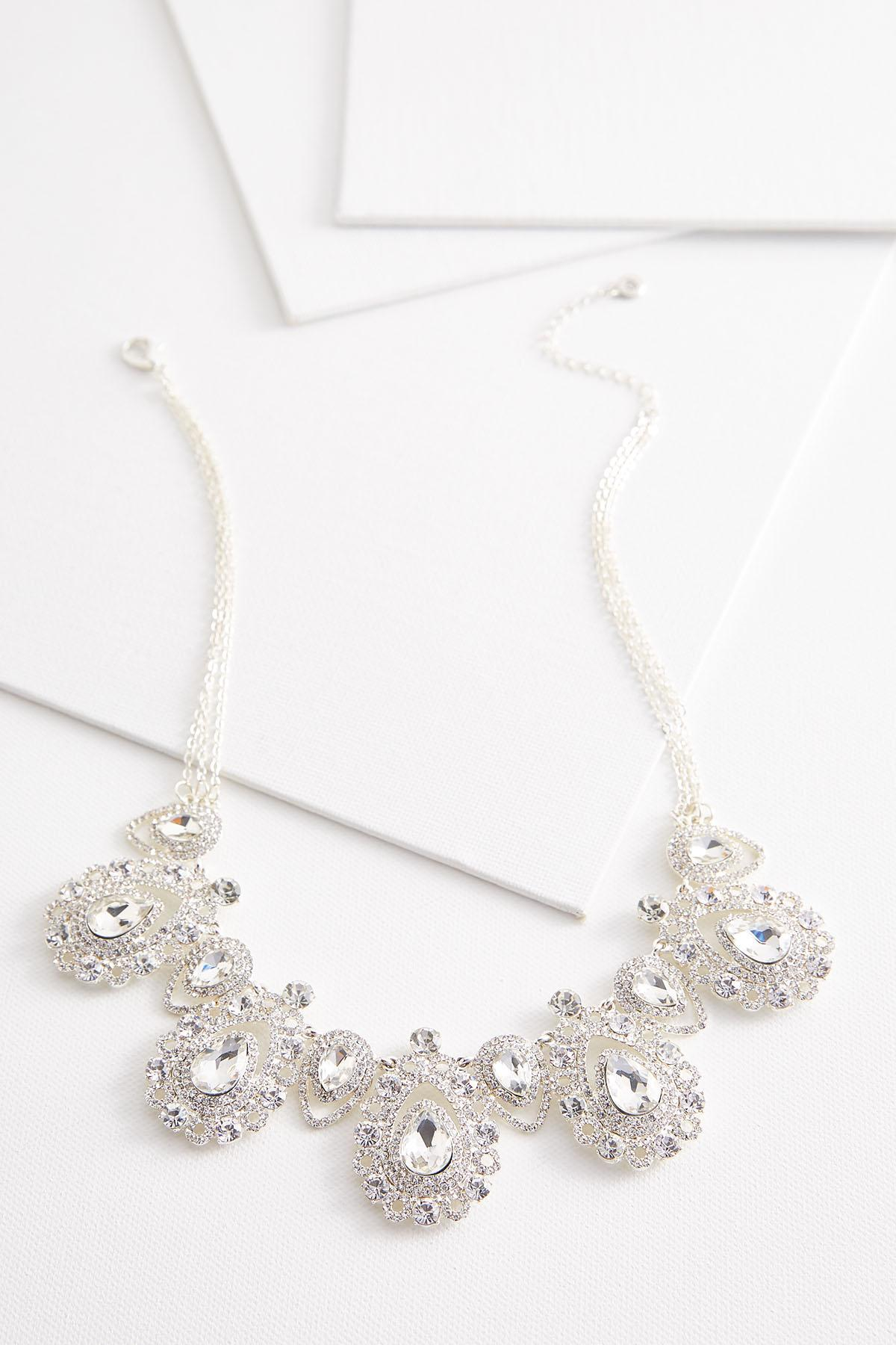 Tear Shaped Stone Bib Necklace