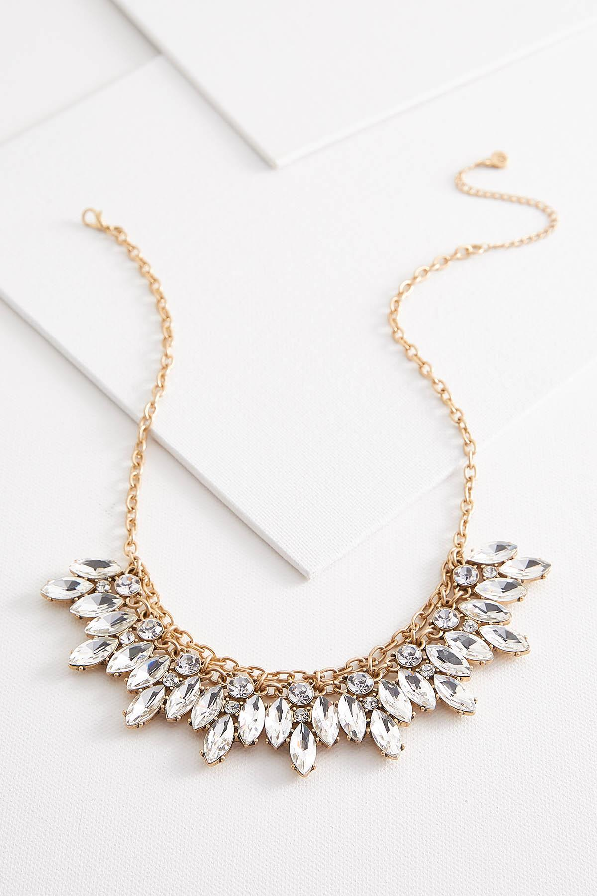 Cluster Stone Bib Necklace