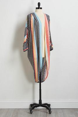 stripe hacci cardigan