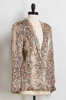 snakeskin blazer