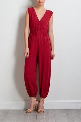 cropped linen jumpsuit