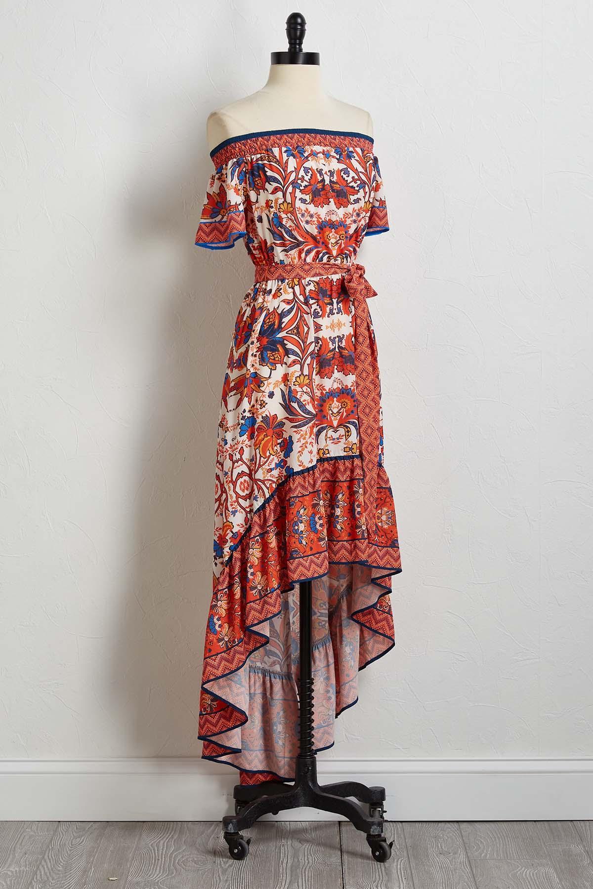 09b09bbb401e2a Versona | fiesta floral high-low dress