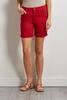 Red Twill Bermuda Shorts