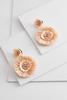 Raffia Flower Earrings