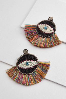 eye fringe earrings