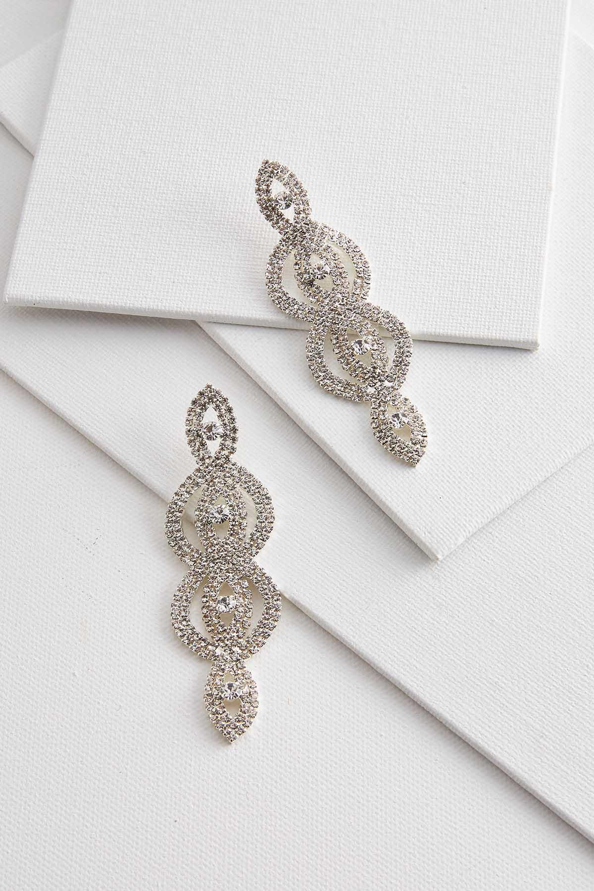 Swirl Rhinestone Earrings