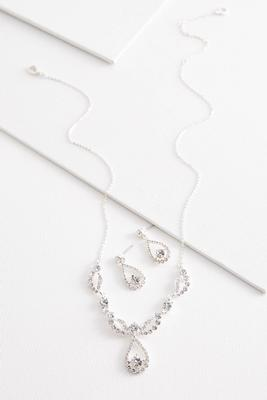 pave necklace and earring set