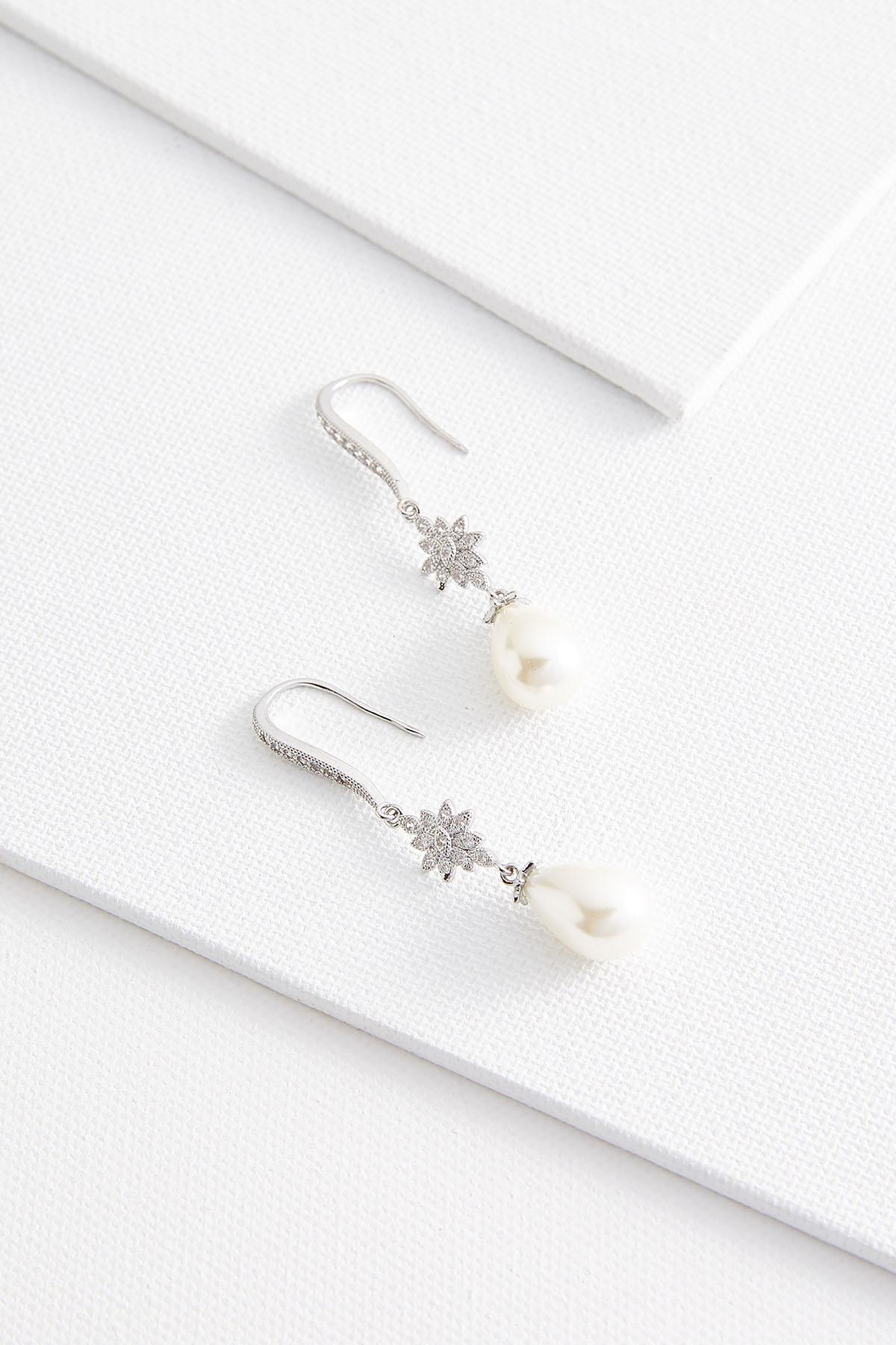 Starburst Pearl Dangle Earrings