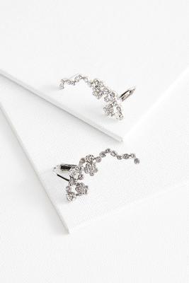 sparkling stone ear cuffs
